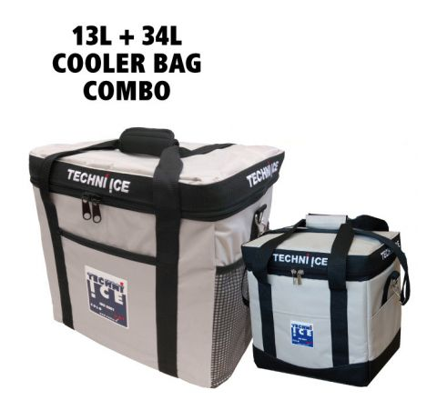 13L + 34L Techni Ice High Performance Cooler Bag Combo - Grey *Late-June Dispatch