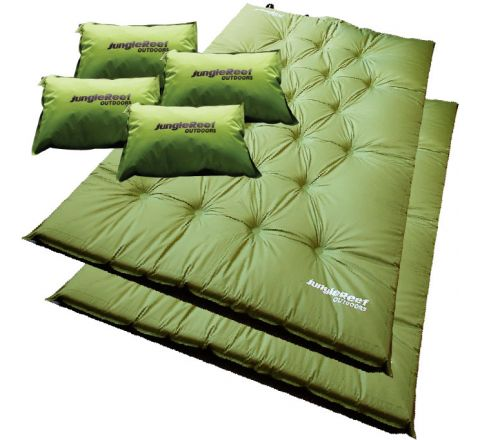 2 x Double Self Inflating Mattresses + 4 x Pillows
