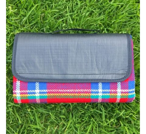 Waterproof PVC Underside Picnic Blanket with Handle