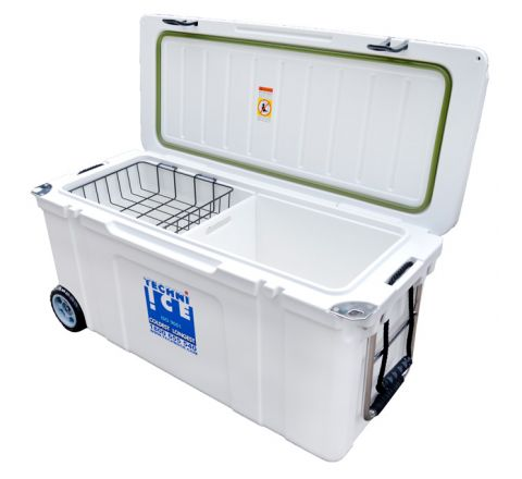 Techni Ice Signature Hybrid Premium Ice Box 120L White Wheels
