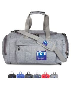 Stylish Travel/Gym Bag with Shoe Compartment (Grey; Large)