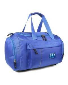 Stylish Travel/Gym Bag with Shoe Compartment (Royal Blue; Large)
