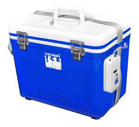 Portable Live Bait Box 18L White Blue + Air-compressor