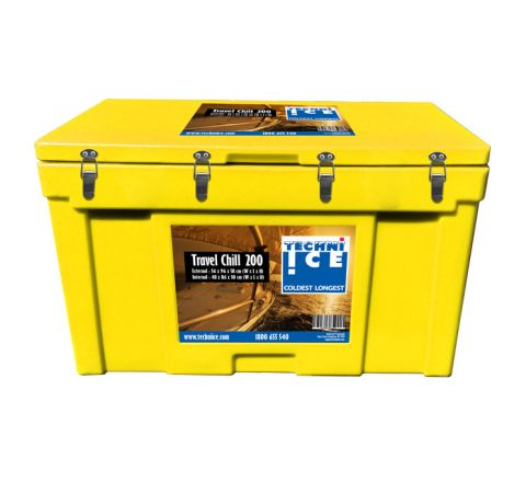Techni Ice Travel Chill Range Ice box 200L Yellow *End of NOV dispatch