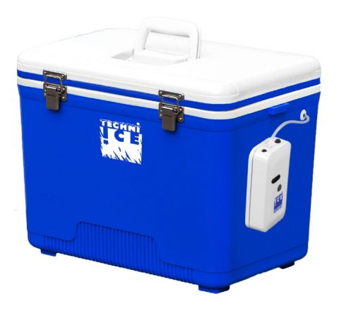 Portable Live Bait Box 28L White Blue + Aircompressor