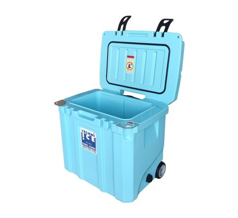 Techni Ice Signature Hybrid Premium Ice Box 35L Light Blue Wheels