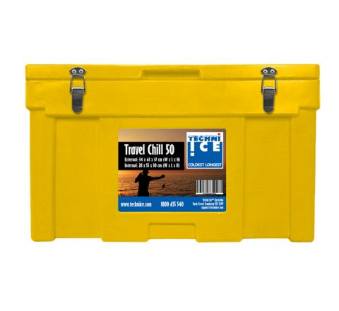Techni Ice Travel Chill Range Ice box 50L Yellow *End of NOV dispatch
