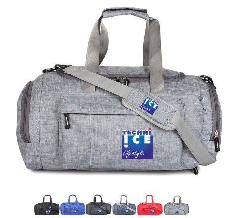 Stylish Travel/Gym Bag with Shoe Compartment (Grey; Large) *Mid September Dispatch