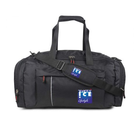 Stylish Travel/Gym Bag with Shoe Compartment (Black; Large) *Mid September Dispatch