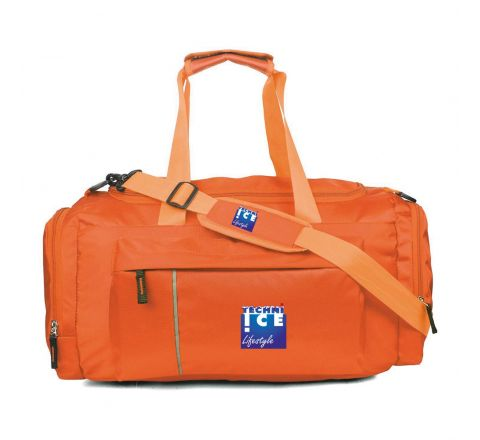 Stylish Travel/Gym Bag with Shoe Compartment (Orange; Large)