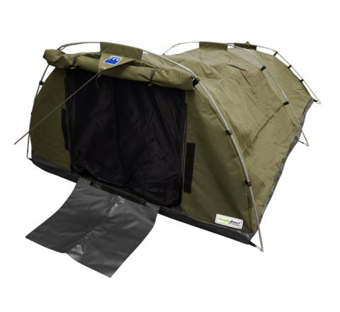 509gsm(15oz) Waterproof Ripstop Canvas Swag - Double (Khaki)