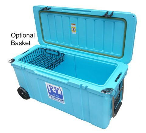Techni Ice Signature Hybrid Series Premium Ice Box 120L Blue with Wheels