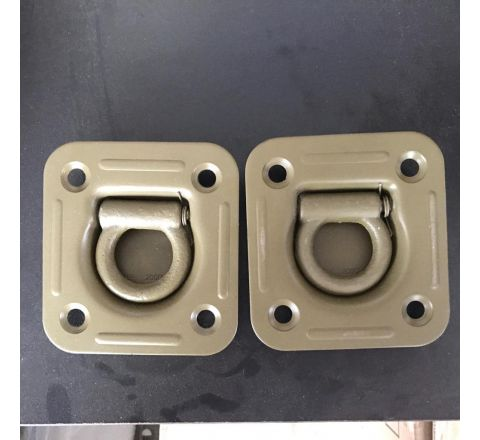 A Pair of (Ex US Army) Heavy duty Recessed Tie down points