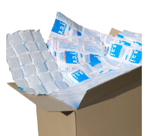 428 (1 carton) Techni Ice STD 2 PLY Disposable Dry Ice packs *Pre-cut in half for convenience