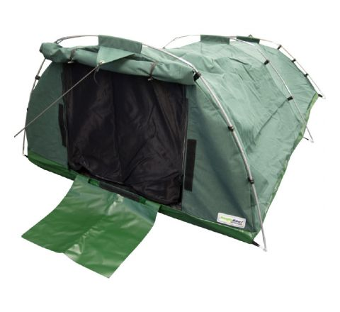 15oz Waterproof Ripstop Canvas Swag - Double (Green)