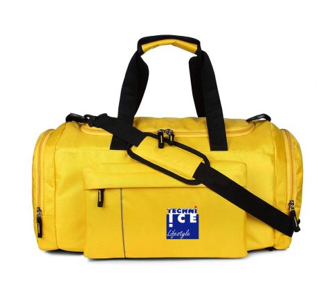 Stylish Travel/Gym Bag with Shoe Compartment (Yellow; Large) *Mid July Dispatch