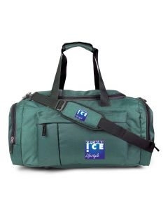 Stylish Travel/Gym Bag with Shoe Compartment (Green; Large)