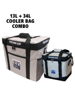13L + 34L Techni Ice High Performance Cooler Bag Combo - Grey